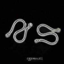 2 Sterling Silver S Hook Fish Clasp 7x10mm #97885