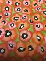 Petit Poppy Flower Orange Olive Michael Miller Fabric FQ 1/2m 1m 100% Cotton