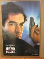 Vintage Timothy Dalton James Bond 007 1987 living daylights  Movie poster  5714