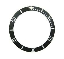BEZEL INSERT CERAMIC FOR INVICTA PRO DIVER 9937 ENGRAVED NUMBERS WATCH BLACK