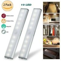 2X 10/20-LED USB Rechargeable Wireless Motion Sensor Cabinet Stick-on Lights /LE