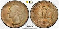 1948-S 25C Washington Quarter PCGS MS66 #37639791, Toned w/ TrueView (A7)