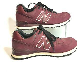 New Balance Mens 574 Encap ML574HRP Lace Up Low Top Burgundy Sneaker Shoes US 8