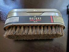 Kikkerland Deluxe Shoe Shine Kit Complete - New-Inc.Cloth-2 cans polish/brush