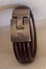 UNO de 50 Leather stripes bracelet.