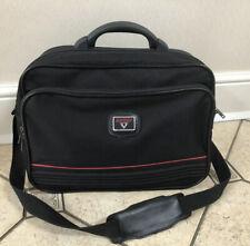 Antler Black Messenger Computer Cabin Weekender Overnight Luggage Bag