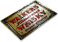 "TIN SIGN ""Walkers Scottish Whisky"" Art Store Brew Beer Liquor Shop Bar Pub A703"