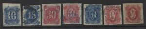 CALIFORNIA Revenue stamps seven different