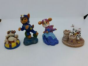 NEW Paw Patrol 4 Figures Chase Skye Rubble Marshall Small Aquarium Ornaments