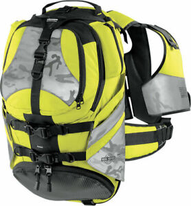 ICON Squad II Pack Motorcycle Backpack (Mil Spec Yellow)