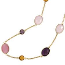 Normal behandelte Echtschmuck-Halsketten & -Anhänger mit Citrin-Hauptstein für Damen