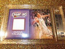 Diana Taurasi 2007 Phoenix Mercury WNBA Finals Game Used Jersey Card BGS 8.5