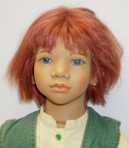 """1994 ANNETTE HIMSTEDT DOLL ~ Melvin w/Outfit ~ 30"""" Tall~Red hair~Blue Eyes"""