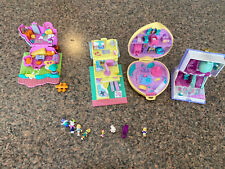 1990s Bluebird Polly Pocket lot of 4 Plus Some Polly Pocket Miniature Dolls
