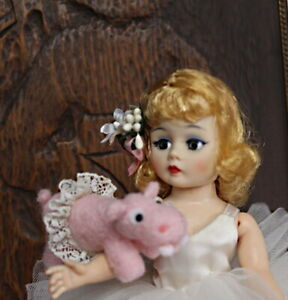 VINTAGE MADAME ALEXANDER BL Cissette Tagged  Ballerina Outfit w/Hippo