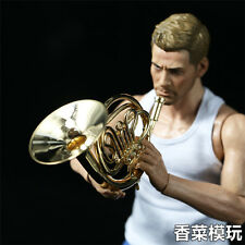 1/6 French Horn Mini Musical Instruments Figure Scene Accessories F 12'' Figure
