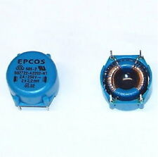 2 PCS lot EPCOS filter choke coil inductor DUAL 2.2mH PC board mount radio part