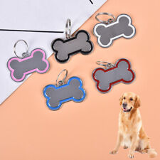 Pet Cat Dog ID Tags Personalized Engraved Name Tag Slide On Collar Tag for  QW