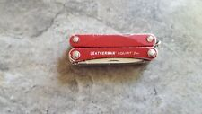 Leatherman SQUIRT PS4 MultiTool Scissors Can Opener Pliers Red PA95
