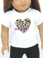 Leopard Heart T-Shirt 18 in Doll Clothes Fits American Girl