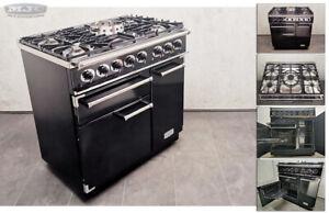 FALCON 210GEOT 90 90cm Dual Fuel FSD RANGE COOKER Black & Chrome (1A29)