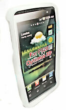 Silikon TPU Handy Hülle Cover Weiß für LG P920 Optimus 3D  + Displayschutzfolie