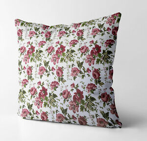 AF301a Red Peony Flower Cotton Canvas Cushion Cover/Pillow Case *Custom Size*