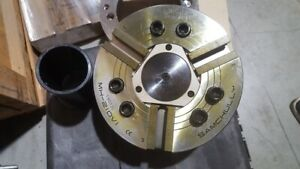 SamChully Model MH-210-V1 3 Jaw Hydraulic Chuck with Soft Jaws