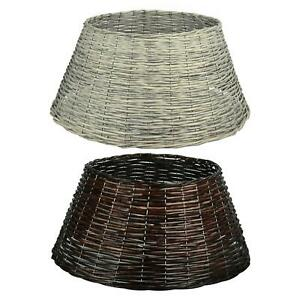 Willow Xmas Tree Skirt Rattan Cover Modern Christmas Stand Wicker Natural Base