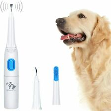 Ultrasonic Dog Tartar Cleaner Electric with 3 Clean Head, Stainless Tooth Scaler