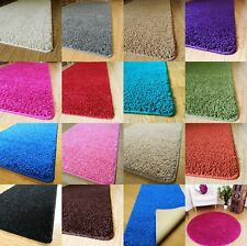 New Shaggy Machine Washable Non Slip Large Small Bathroom Mat Circular Rugs