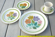 Franciscan Floral earthenware dishes 5 piece placesetting FREE shipping