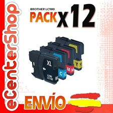 12 Cartuchos LC980 NON-OEM Brother MFC-255CW / MFC255CW 24H