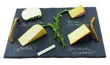 Cheese Board Rustic Farmhouse slate chalkboard writing surface rope handles