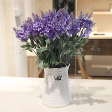10 Heads Lavender Bouquet Artificial Silk Fake Flowers Wedding Home Party Decor