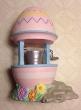 1994 Hallmark Merry Miniatures-Easter Wishing Well Egg & Flowers