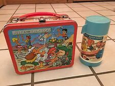 Vintage 1971 Aladdin Pebbles and Bamm-Bamm Metal Lunchbox and Thermos