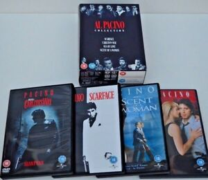 AL PACINO 4 DVD COLLECTION - Scarface Carlito's Way Sea of Love Scent of A Woman