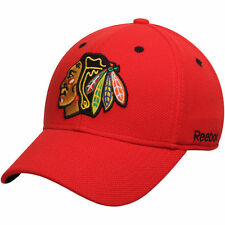 NHL Chicago Blackhawks Reebok Red Face-off Structured Flex Hat, S/M