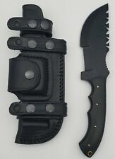 Tactical Hunting Knife with Sheath (Black)
