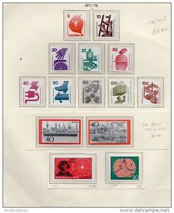 Germany FDR 171-73 Collection of 13 values Mint MNH