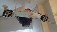 Novelty Racing Car Ceiling Pendant Chrome Light Childrens Room Man Den