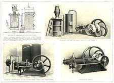 GAS AND OIL ENGINES. Crossley's Suction Gas Plant, Oil Engine. Tangyes Ltd 1912