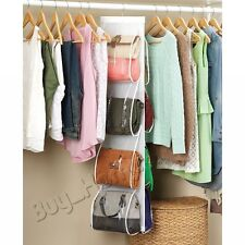 8 Pocket Hanging Handbag Purse Bag Tidy Organiser Storage Wardrobe Closet Hanger