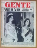 Rivista Magazine - Gente n° 11 1961 - Farah Diba - Soraya - Liz Taylor