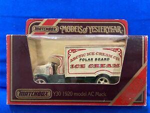 Matchbox Models of Yesteryear - 1920 model AC Mack - Arctic Ice Cream Co.