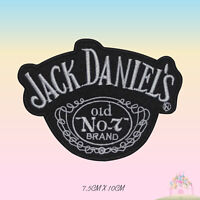 Jack Daniels NO 7 JD Embroidered Iron On Patch Sew On Badge Applique