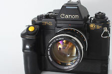 Canon F-1 Los Angeles 1984 Model w/ FL 58mm F1.2 + Motor Drive from Japan m010