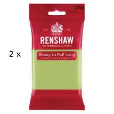 500g Renshaw Ready Roll Icing Fondant Cake Regalice Sugarpaste PASTEL GREEN