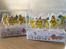 POKEMON PIKACHU CANDLES 5 PIECE PACK HAPPY BIRTHDAY DECORATIONS CAKE CANDLE